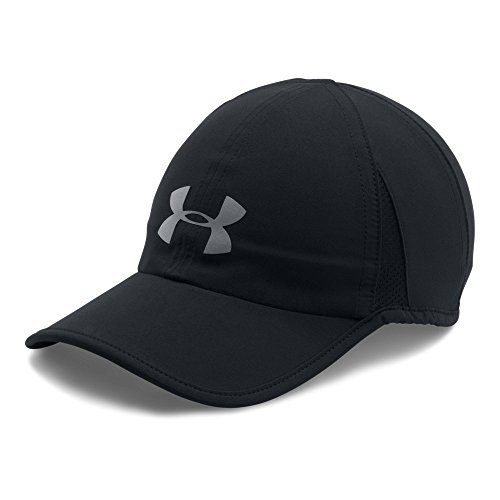 Under Armour Men's Shadow 4.0 Run Cap, Black/Black, One - Hat Run