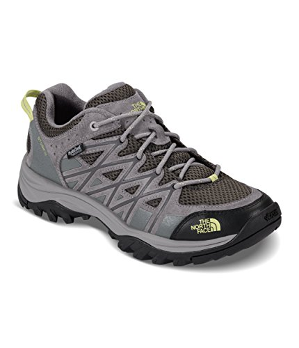 The North Face Women's Storm III Waterproof Hiking Shoes - Darkgull Gray and Chiffon Yellow - 10.5