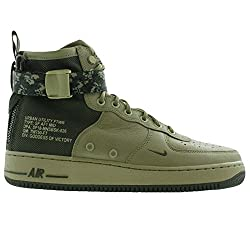 Nike Men's Sf Air Force 1 Mid Neutral Olive 917753-201 (Size: 10)