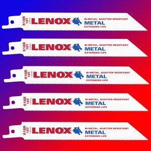 "Lenox 6118R 6/"" x 18 TPI Bi-Metal Reciprocating Saw Blade 25 PACK"