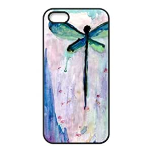 Dragonfly Vintage Design Solid Rubber Customized Cover Case for iPhone 5 5s 5s-linda26