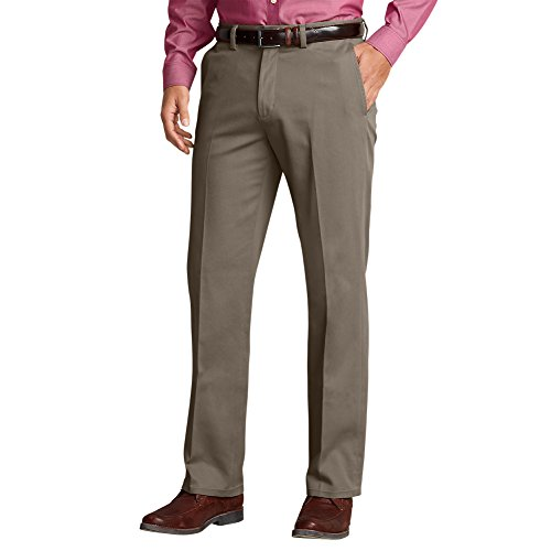 - Eddie Bauer Men's Casual Performance Chino Flat-Front Pants - Classic Fit, Taupe