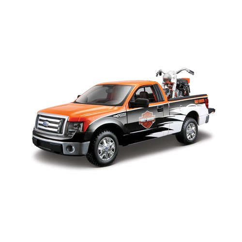 Maisto 1:24 Scale Ford F-150 STX and Harley Davidson '58 FLH Duo Glide Diecast Vehicles (Styles May Vary)