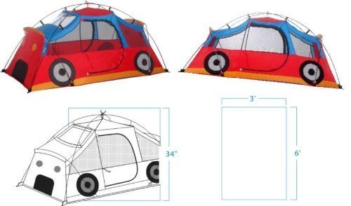 Kiddie Coupe Tent - Quality KIDS PLAY TENT - KIDDIE COUPE by HFD