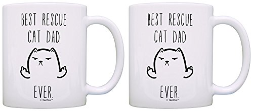(Rescue Cat Gifts Best Rescue Cat Mom Ever Cat Rescue Cats Cat Gifts for Cat Lovers Gift Coffee Mug Tea Cup White)