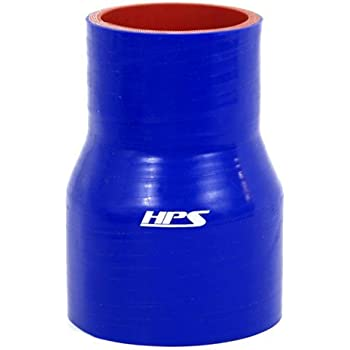 30 PSI Maximum Pressure 3  4 ID HPS HTSR-300-400-L6-BLUE Silicone High Temperature 4-ply Reinforced Reducer Coupler Hose 6 Length Blue