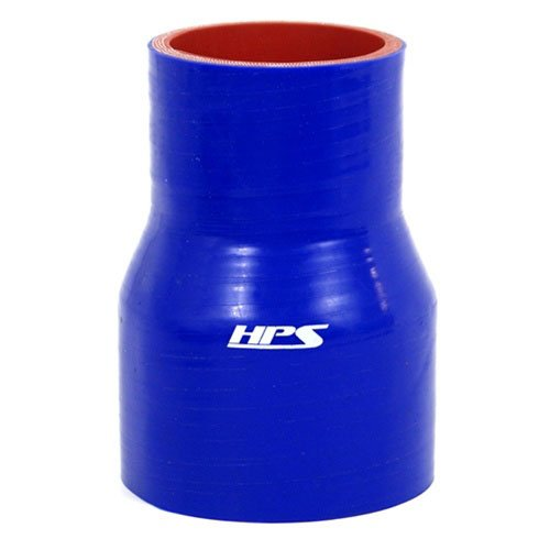 HPS HTSR-250-275-L4-BLUE Silicone High Temperature 4-ply Reinforced Reducer Coupler Hose, 50 PSI Maximum Pressure, 4' Length, 2-1/2' > 2-3/4' ID, Blue 4 Length 2-1/2 > 2-3/4 ID HPS Silicone Hoses