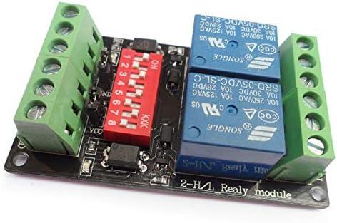 便利 フォトカプラ絶縁を備えた12V 2チャネル高低相互運用性リレーモジュール 組み立てが簡単