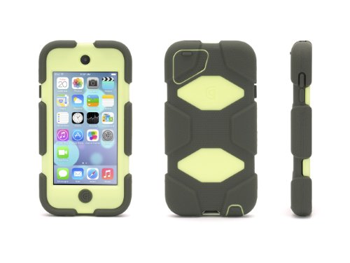 Griffin Olive/Lime Survivor All-Terrain Case + Belt Clip for iPod touch (5th/ 6th gen.) - Extreme-duty case Griffin Ipod