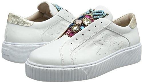 Basses Blu Flamenco Blanc Tosca C00 Sneakers Femme bianco wBfS1xAqt