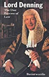img - for The Due Process of Law by Baron Alfred Denning (2005-05-05) book / textbook / text book