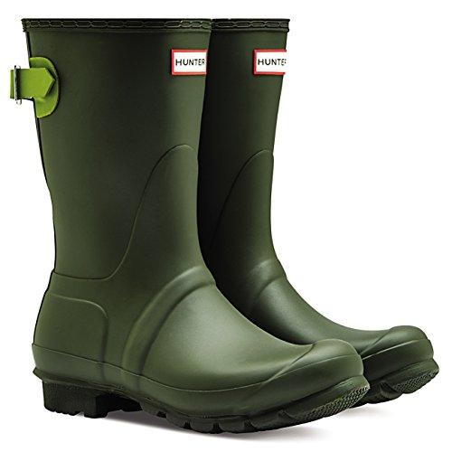 Hunter Womens Original Adjustable Back Short Snow Waterproof Rain Boots - Dark Olive/Kelp - 5 by Hunter (Image #5)