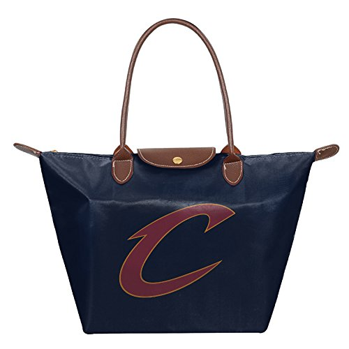 Cleveland Cavaliers Foldable Large Tote Bags Shopping Handbags Navy