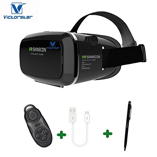 VR Box 3D Headset Virtual Reality Glasses With Bluetooth Controller - 7