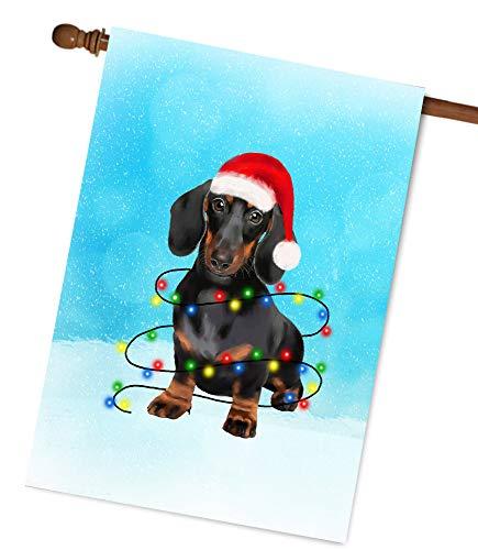 Dachshund Dog Christmas Garden Flag House Flag A Perfect Home Decor Dog Lovers Dog Lovers Gifts