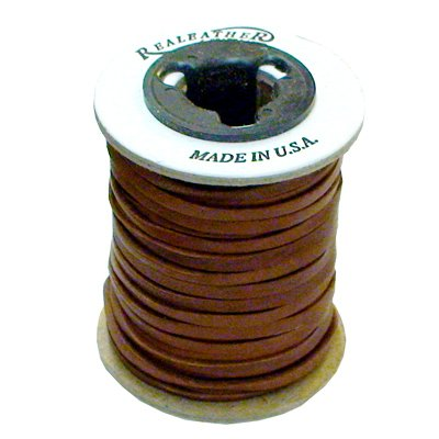 Springfield Leather Company 1/8''x50ft Saddle Colored Leather Deer Lace