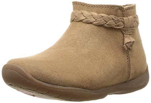Stride Rite Girls' Finley Ankle Boot, Brown, 9.5 W US Toddler