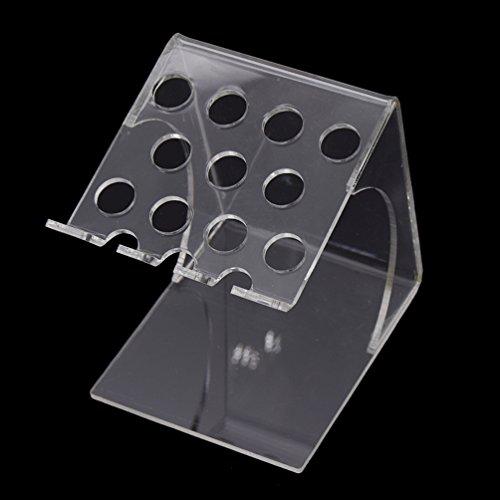 BetterUS Transparent Syringe Organizer Dental 11 Holes Dental U-Shaped Rack New