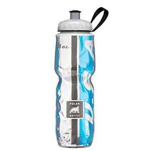 Polar Bottle Insulated Water Bottle (24-Ounce) (Light Blue/Black)