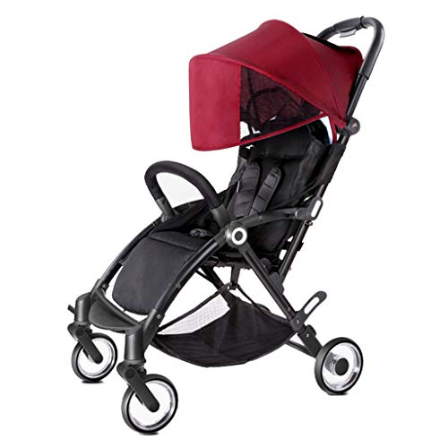 - Xing Hua Shop Children's Stroller Children's Bicycle Children's Three-Wheeled Bicycle Silent Shock Absorber Cart 0-3 Years Old Folding Cart Sun Stroller Stroller Toys (Color : Red, Size : 7343101cm)
