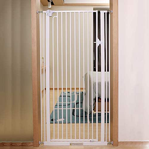 Indoor Safety Gates Stairs/Doors/Hall/Kitchen Indoor Safety Pet Gates, Extra Tall Dog Gate, High 120cm, White (Size : 69-74cm)