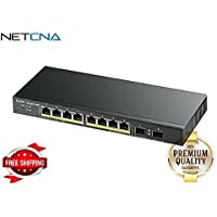 ZyXEL GS1900-10HP - switch - 8 ports - smart - desktop, wall-mountable - By NETCNA