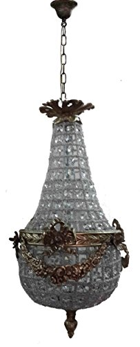 Petite French Empire Crystal Ornate Ceiling Fixture Chandelier by Egypt gift shops Petite European Gift Basket