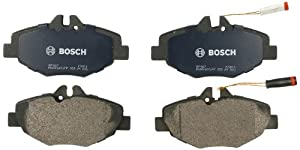 Bosch BP987 QuietCast Premium Semi-Metallic Disc Brake Pad Set For Mercedes-Benz: 2003-2009 E320, 2006-2009 E350; Front
