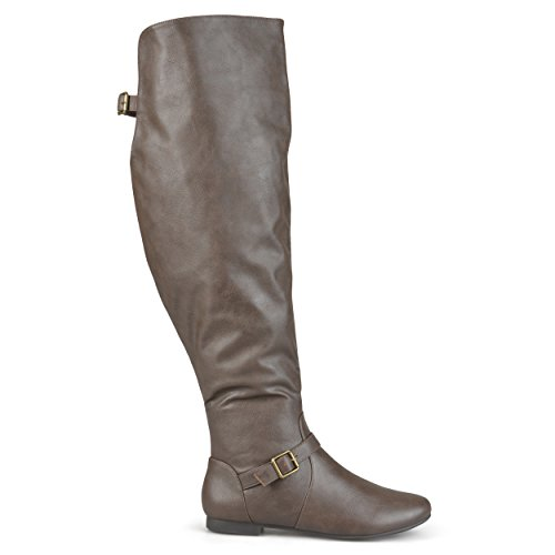 Brinley Co Dames Schuur Over De Knie Laars Taupe