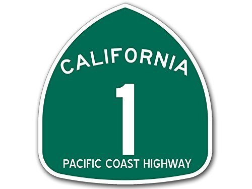 Vinyl USA California 1 Pacific Coast Highway Sign Shaped, used for sale  Delivered anywhere in USA