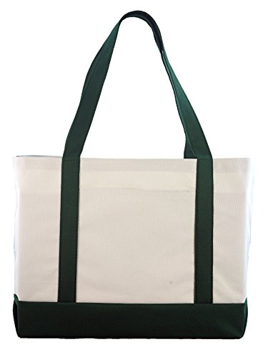 Daily Tote - Forest/white