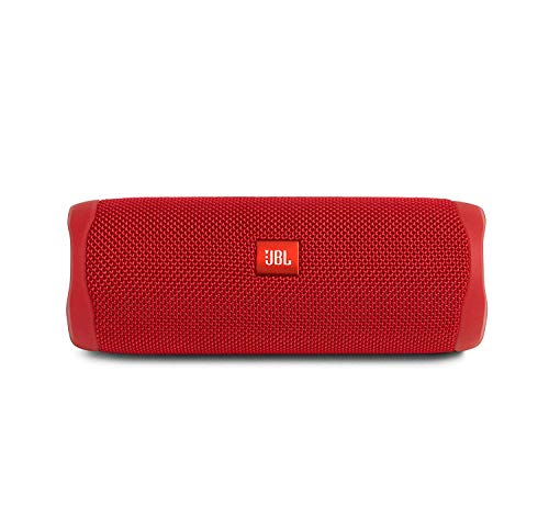 JBL Flip 5 Waterproof Portable Wireless Bluetooth Speaker Bundle with USB 2.0 Bluetooth Adapter - Red