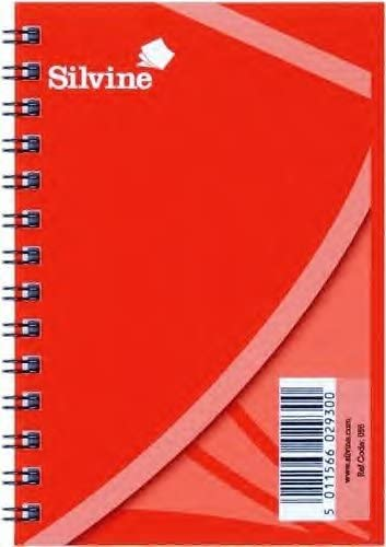 Pack de 12 – Espiral Silvine cuaderno de nota libro 5