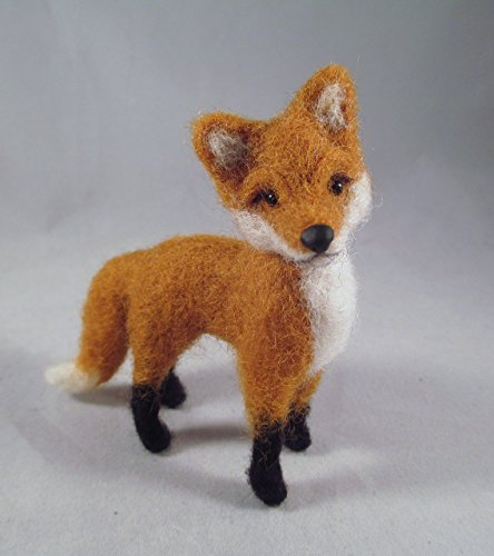 Handmade Needle Felted Fox Animal Soft Sculpture Fox Needle