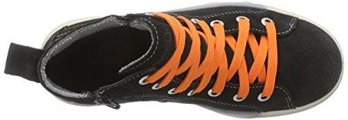 Superfit SWAGY - zapatillas deportivas altas de piel niños negro - negro (negro KOMBI 02)