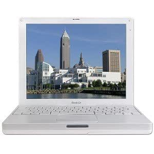Apple iBook 12.1-Inch Laptop, G4 iBook 1.33GHz Processor, White