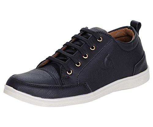 Kraasa Men's Black Boat Shoes