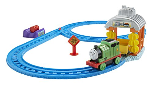 (Fisher-Price Thomas & Friends Motorized Railway Percy's Sodor Engine Wash Set)