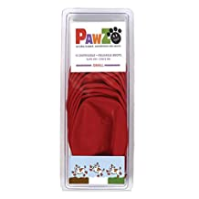 Pawz PZ1031 Water-Proof Dog Boot, Small, Up to 2-1/2-Inch, Red