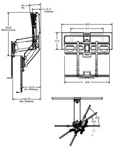 mantelmount mm540 pull down tv mount above fireplace for 44 80 tvs over mantel 11street. Black Bedroom Furniture Sets. Home Design Ideas