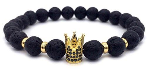 Crown Bracelet: Imperial Crown Bracelet for men / Crown bracelet for women; bracelet for couples, bracelets men, crown jewelry, beaded bracelet, crown bracelet charms, bracelet beads, natural stone