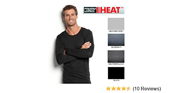 1302e9de Amazon.com: 32 Degrees Heat Smart Fabric Long Sleeved Crew Neck Shirt -  Black (Medium): Clothing