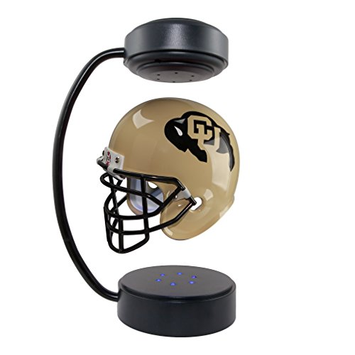 Buffalo Helmet (Colorado Buffaloes NCAA Hover Helmet - Collectible Levitating Football Helmet with Electromagnetic Stand)