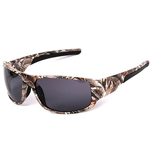 MOTELAN Polarized Camouflage Sports Sunglasses for Men's Fishing Hunting Boating Sun Glasses Grey