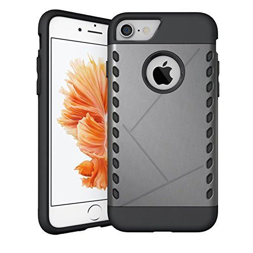 CaseHQ iPhone 7 Case,iPhone 8 Case,Extreme Heavy Duty PC+Rubber Shockproof Protection Slim fit Style Premium Hybrid Protective Case for Apple iPhone 7/iPhone 8 (4.7 inch screen) (gray)