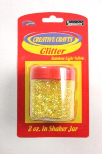 Glitter Shaker- Light Yellow 48 pcs sku# 1794959MA by DDI