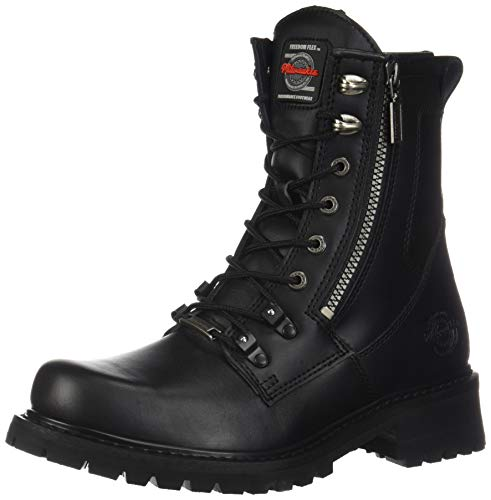 Milwaukee Motorcycle Clothing Company Trooper Leather Men's Motorcycle Boots (Black, Size 9.5EE) ()