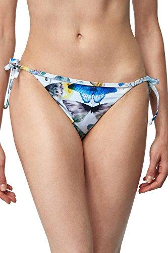 next Mujer Braguita De Bikini Con Lazos Laterales Y Estampado De Mariposas Corte Regular Azul /Blanco