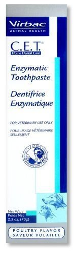 CET Virbac Plaque Tartar Control Enzymatic Dog and Cat Toothpaste, 2.5 oz, Poultry