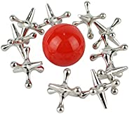 Home-X Jacks Game, Metal Jacks and Rubber Ball Game